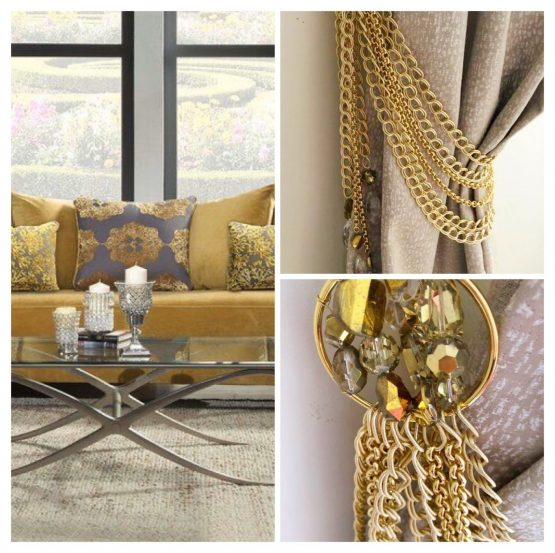 luxury gold tiebacks