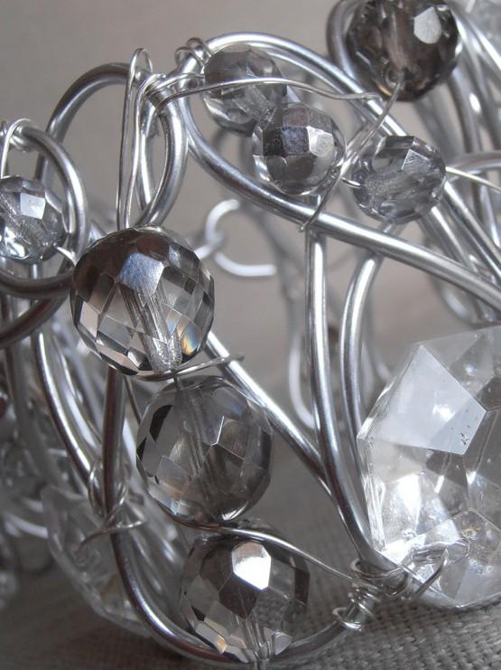 Silver tiebacks Bohemian glass crystals