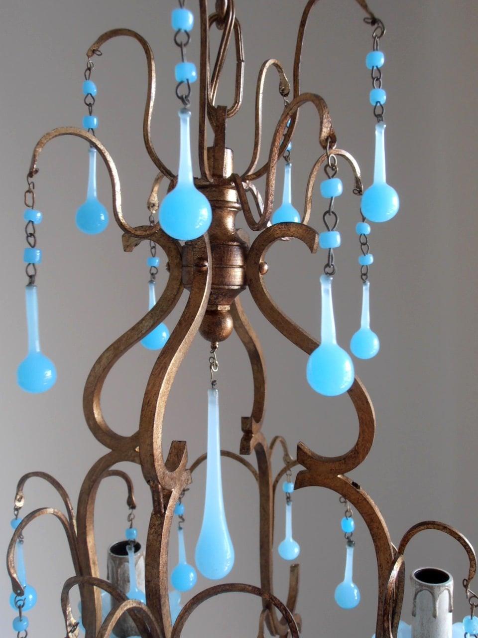 italian birdcage chandelier murano - Birdcage Chandelier
