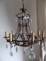Hand forged antique chandelier