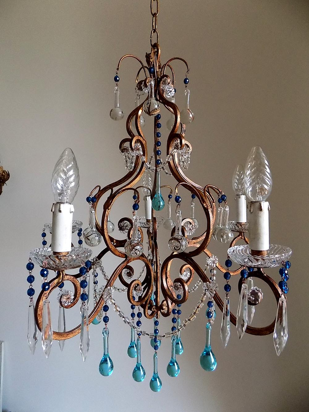 shop and wrought drops crystal chandeliers birdcage vintage iron murano chandelier florence