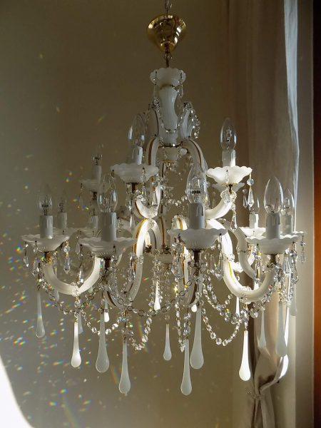opaline drops chandelier
