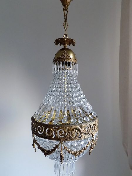 Antique bronze empire style chandelier