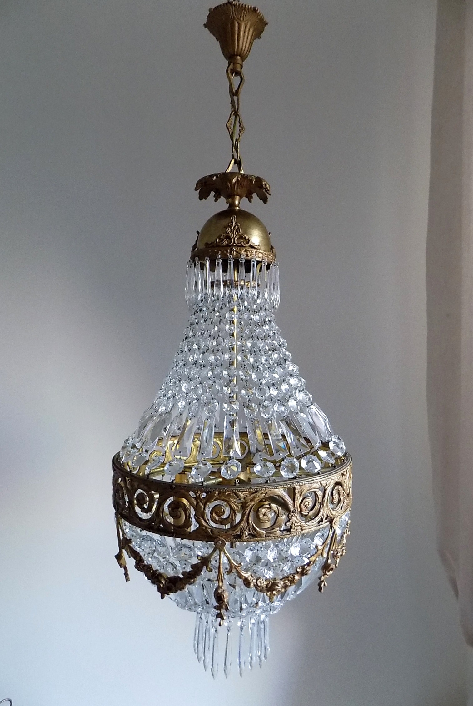 lightbox - Antique Bronze Empire Style Chandelier - Lorella Dia