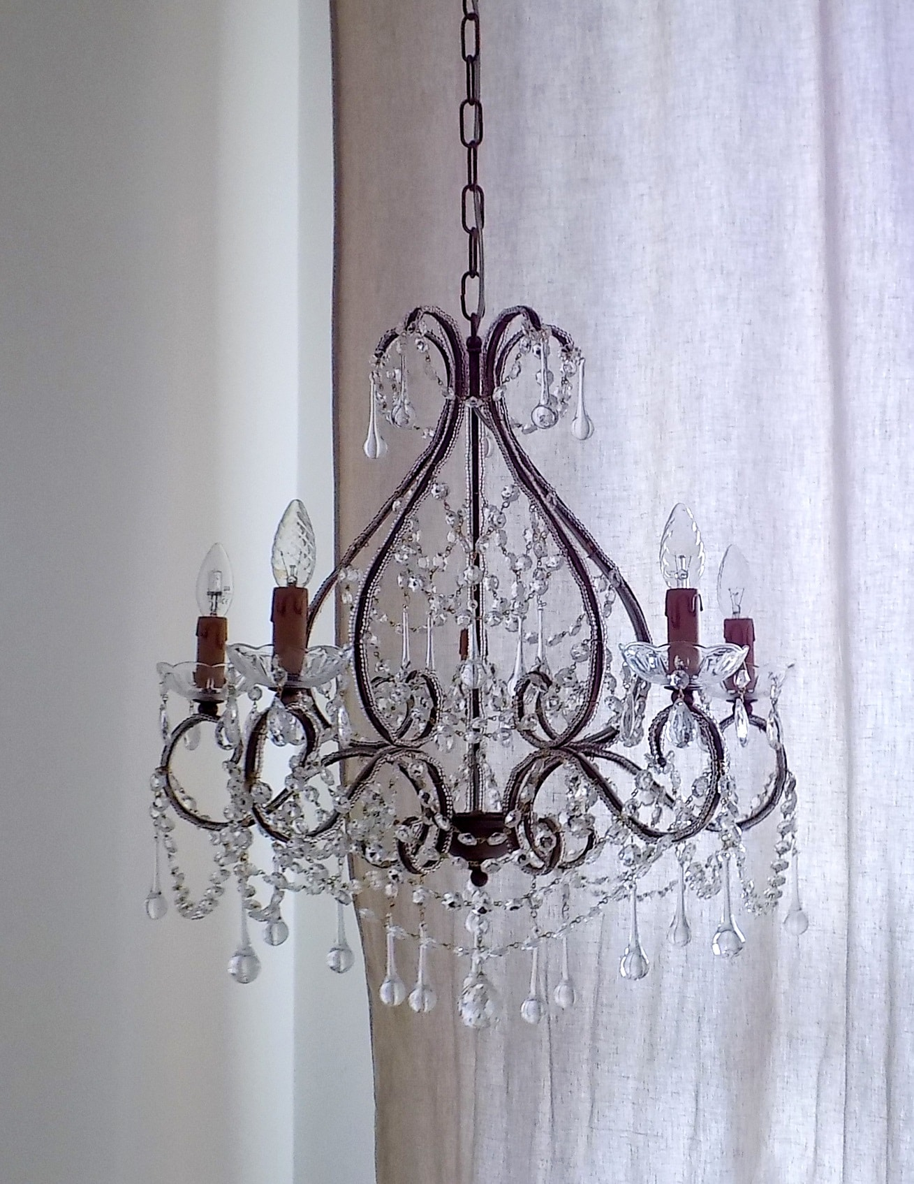 Arianna clear crystal chandelier 5 arms lorella dia lightbox aloadofball Gallery