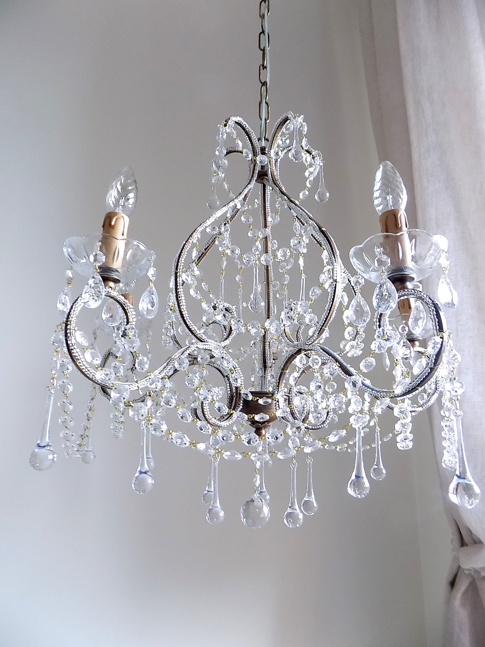 ARIANNA clear crystal chandelier 5 arms