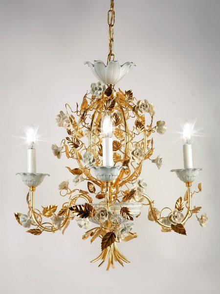 porcelain roses chandelier