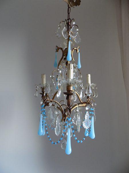 blue opaline drops chandelier