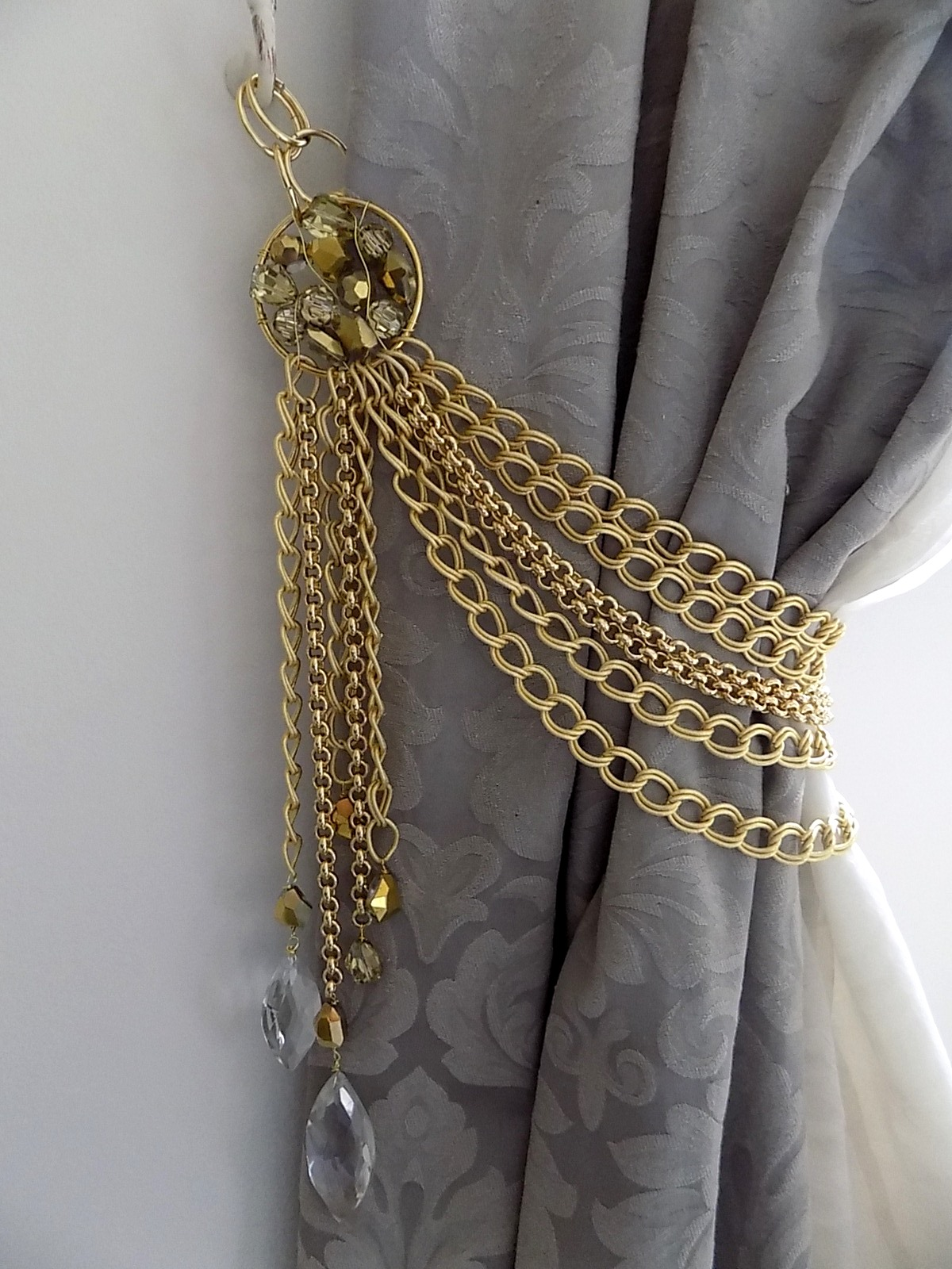 Luxury Sun gold chains drapery holder