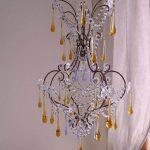 Italian Vintage Chandelier With Porcelain Flowers