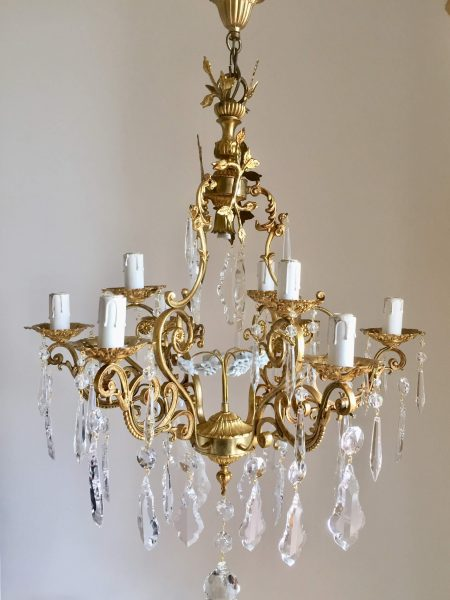 goldensolidbrass chandelier