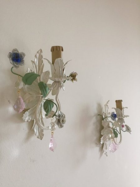 porcelain flowers sconces