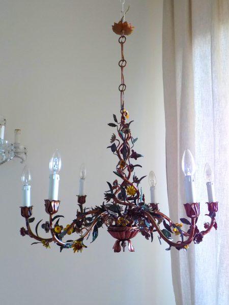 Italian floral chandelier