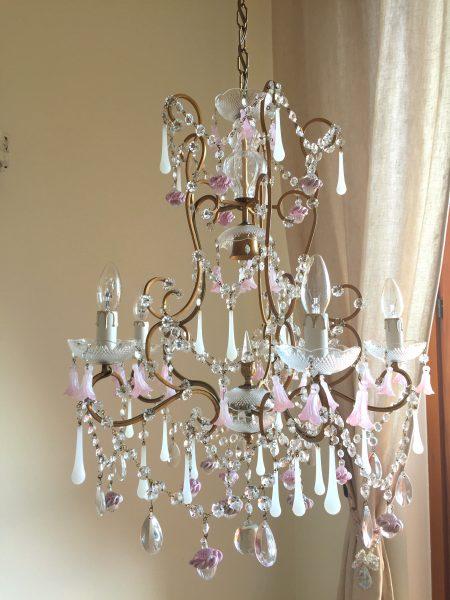 Italian chandelier feminine
