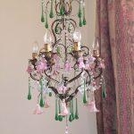 pink flowers chandeleir
