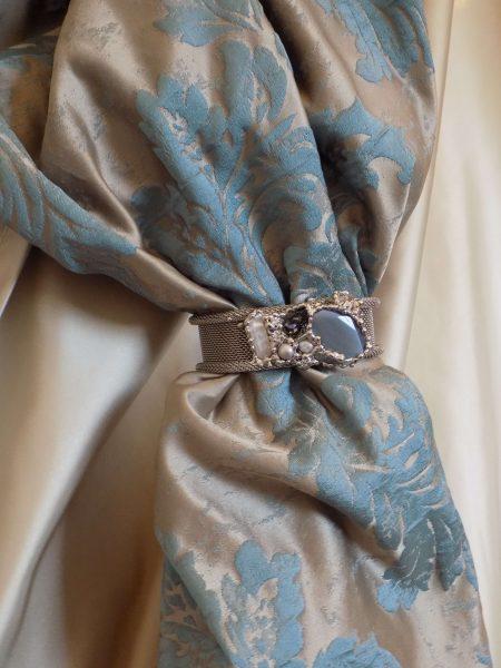 curtain bracelet stones and swarovski