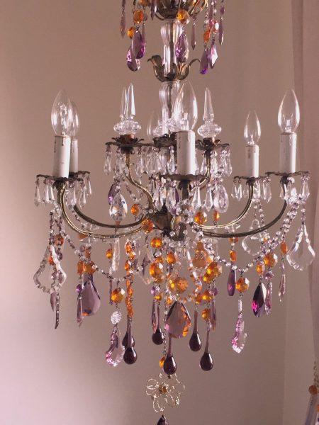 Italian vintage tole chandelier