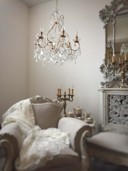 gold birdcage crystal chandelier