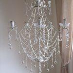 ivory basket chandelier