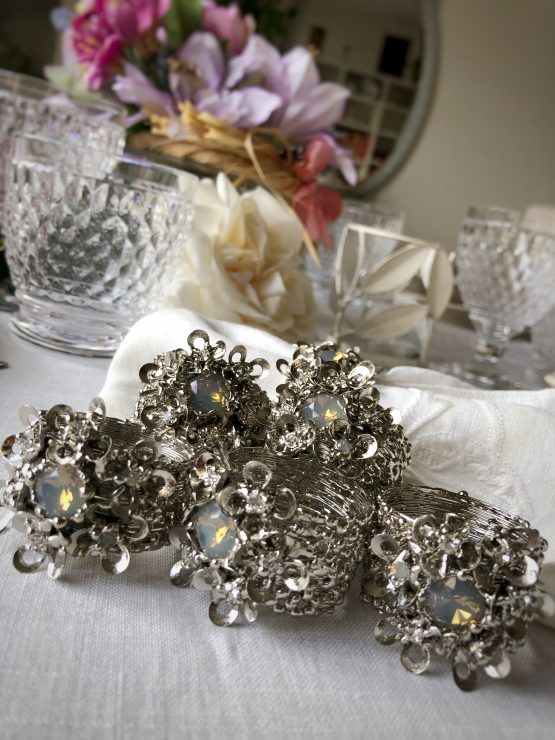 set of 6 luxury napkin rings