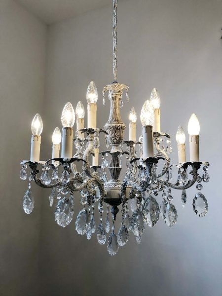 Solid brass 12 lights chandelier