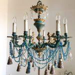 ornate bronze chandelier
