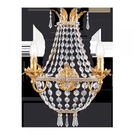 Swarovski crystals gold bijoux sconce