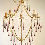 amethyst drops basket chandelier