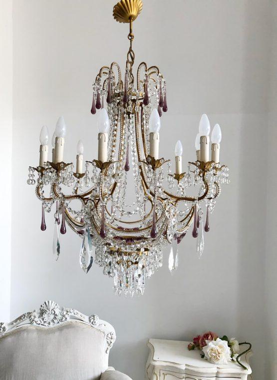 Italian luxury Murano drops chandelier