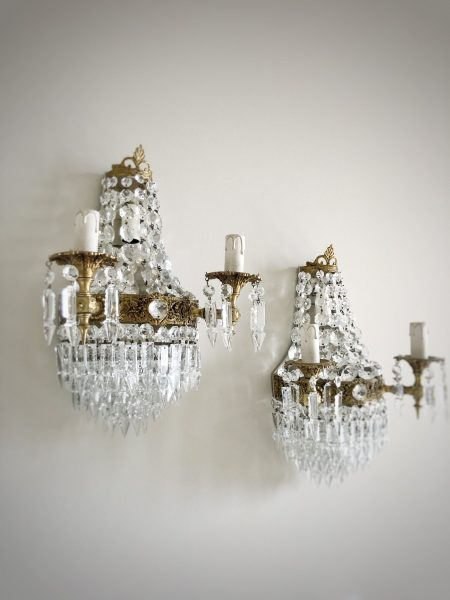 RESERVED FOR P. Italian rare vintage empire style sconces 4 lights