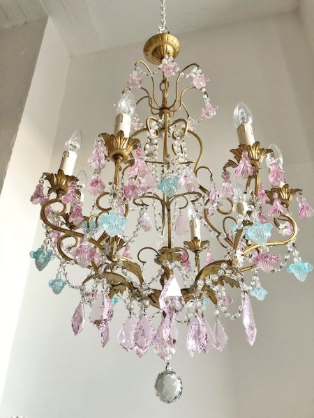Vintage Murano pendants 8 lights chandelier