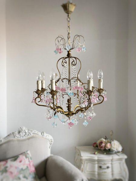 Vintage Murano pendants 8 lights chandelier