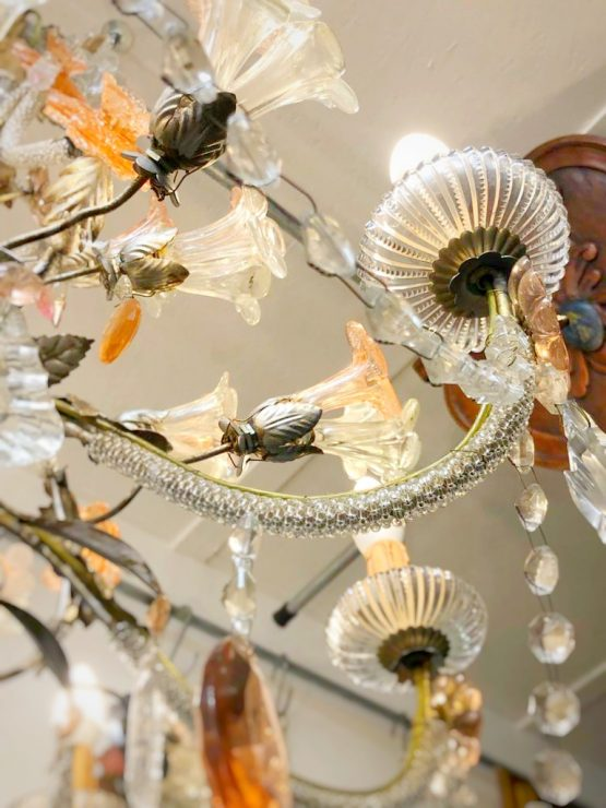 Murano flowers chandelier with swags