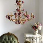 gold and roses chandelier