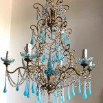 opaline glass drops chandelier